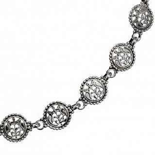 Gerochristo 4052N ~ Sterling Silver Post-Byzantine Filigree Chain Necklace