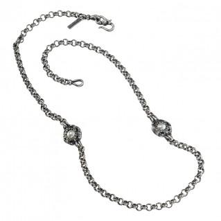 Gerochristo 4063N ~ Sterling Silver Medieval Byzantine Station Necklace