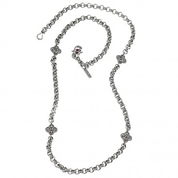 Gerochristo 4067N ~ Sterling Silver Medieval Byzantine Station Necklace