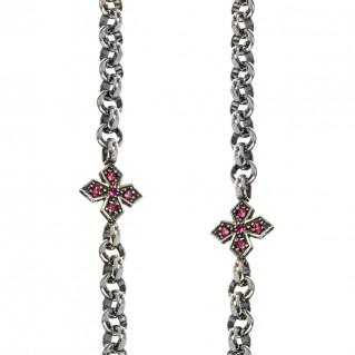 Gerochristo 4069N ~ Sterling Silver Medieval Byzantine Station Necklace