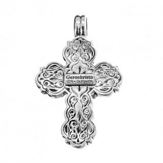 Gerochristo 5061N ~ Sterling Silver Byzantinte Crucifix Cross Pendant