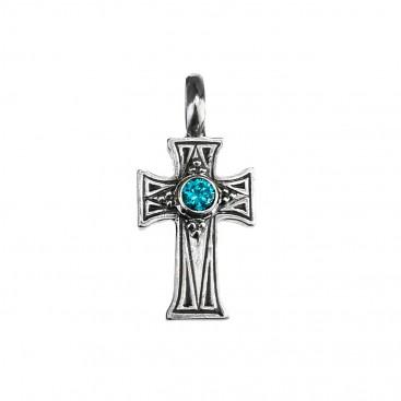 Gerochristo 5108N ~ Sterling Silver Medieval-Byzantine Cross Pendant