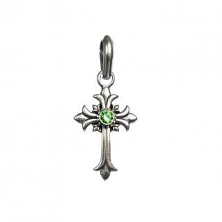 Gerochristo 5117N ~ Sterling Silver Medieval Fleur de Lis Cross Pendant