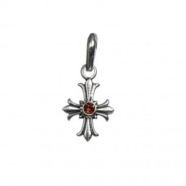 Gerochristo 5118N ~ Sterling Silver Medieval Fleur de Lis Cross Pendant