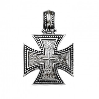 Gerochristo 5412 ~ Sterling Silver Maltese Cross Pendant