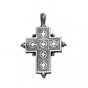 Gerochristo 5414 ~ Sterling Silver Medieval-Byzantine Cross Pendant