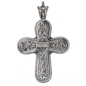 Gerochristo 5426N ~ Solid Gold & Silver Medieval Cross Pendant