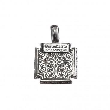 Gerochristo 5506N ~ Sterling Silver Maltese Cross Pendant