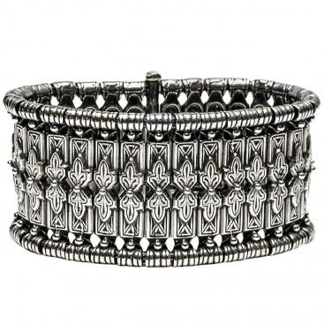 Gerochristo 6006 ~ Sterling Silver Medieval-Byzantine Bangle Bracelet