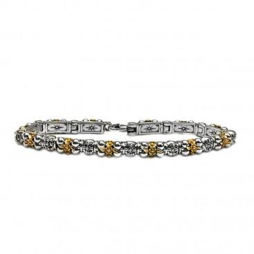 Gerochristo 6067 ~ Solid Gold & Silver Medieval Byzantine Bracelet