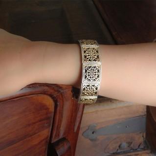 Gerochristo 6090 ~ Solid Gold & Sterling Silver Medieval Bracelet