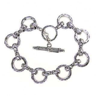 Gerochristo 6092 ~ Sterling Silver Medieval Byzantine - Basic Charm Bracelet