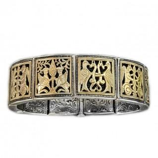 Gerochristo 6097 ~ Solid 18K Gold & Sterling Silver Medieval Bracelet
