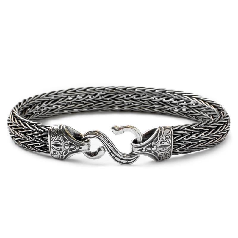 Gerochristo 6152 Sterling Silver Rope Meval Byzantine Bracelet