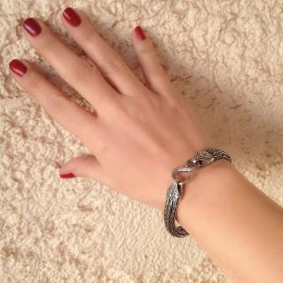 Gerochristo 6152 ~ Sterling Silver Rope Medieval-Byzantine Bracelet