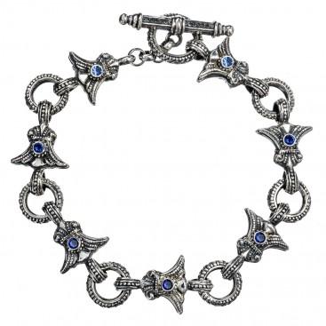 Gerochristo 6160N ~ Sterling Silver Medieval- Byzantine Link Bracelet