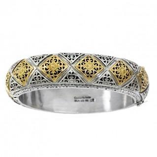 Gerochristo 6190 ~ Solid Gold & Sterling Silver Medieval-Byzantine Bracelet