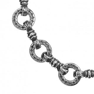Gerochristo 6211N ~ Sterling Silver Medieval Byzantine Link Bracelet