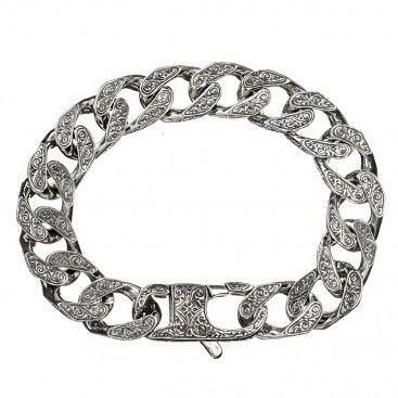 Gerochristo 6213N ~ Sterling Silver Medieval Byzantine Chain Bracelet