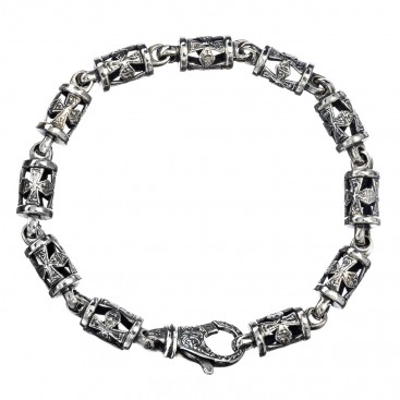 Gerochristo 6221N ~ Sterling Silver Medieval-Byzantine Cross Bracelet