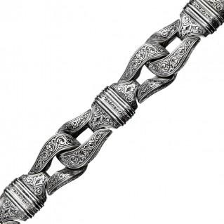 Gerochristo 6223N ~ Sterling Silver Men's Link Bracelet - Minotaur