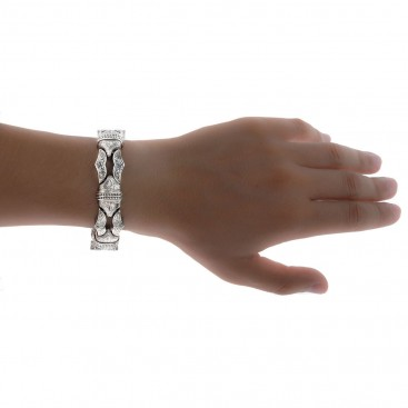 Gerochristo 6225N ~ Sterling Silver Men's Link Bracelet - Minotaur Sharp