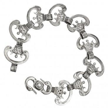 Gerochristo 6227N ~ Sterling Silver Medieval-Byzantine Link Bracelet