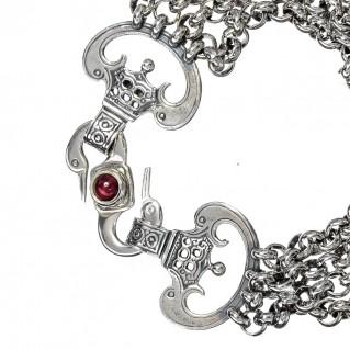 Gerochristo 6228N ~ Sterling Silver Medieval-Byzantine Multi Chain Bracelet