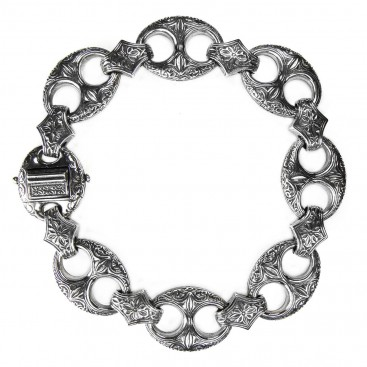 Gerochristo 6267 ~ Solid Sterling Silver Medieval-Byzantine Bracelet