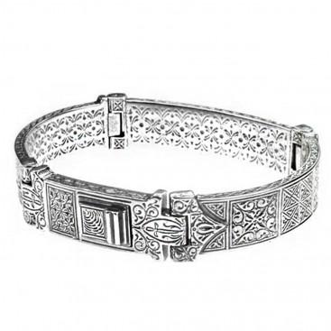 Gerochristo 6286 ~ Sterling Silver Medieval Byzantine Bracelet