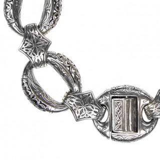 Gerochristo 6295 ~ Sterling Silver Medieval Byzantine Link Bracelet