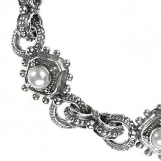 Gerochristo 6327 ~ Sterling Silver & Pearls Medieval-Byzantine Bracelet