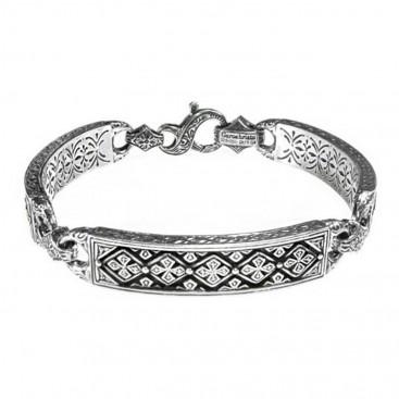 Gerochristo 6335 ~ Solid Sterling Silver Medieval-Byzantine Bracelet