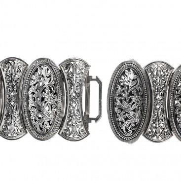 Gerochristo 6350 ~ Sterling Silver Medieval-Byzantine Large Bracelet