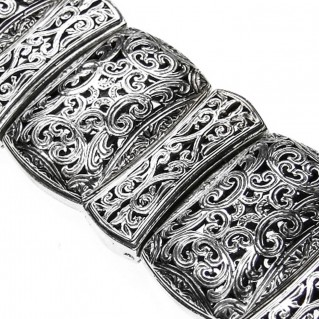 Gerochristo 6355 ~ Sterling Silver Medieval-Byzantine Large Bracelet