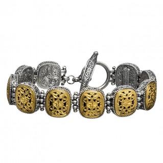 Gerochristo P6298N ~ Sterling Silver Medieval-Byzantine Link Bracelet