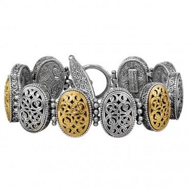 Gerochristo P6309N ~ Sterling Silver Medieval-Byzantine Link Bracelet