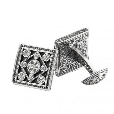 Gerochristo 7021 ~ Sterling Silver Medieval Byzantine Cufflinks