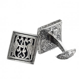 Gerochristo 7022 ~ Sterling Silver Medieval Byzantine Cufflinks