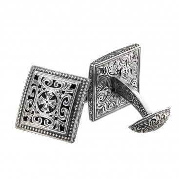 Gerochristo 7022N ~ Sterling Silver Medieval-Byzantine Cross Cufflinks