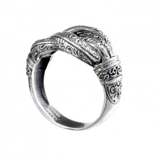 Gerochristo 2574N ~ Hercules Knot - Sterling Silver Band Ring