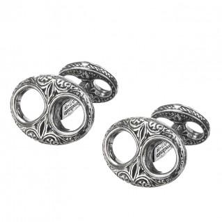 Gerochristo 7099 ~ Sterling Silver Medieval Byzantine Cufflinks