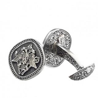 Gerochristo 7105 ~ Double Headed Eagle -Byzantine Sterling Silver Cufflinks