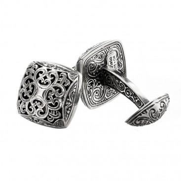 Gerochristo 7122 ~ Sterling Silver Byzantine-Medieval Cufflinks