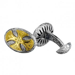 Gerochristo P7097N ~ Sterling Silver Medieval Large Cross Cufflinks