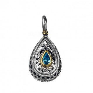 Gerochristo P1257N ~ Sterling Silver & Stone Medieval-Byzantine Charm Pendant