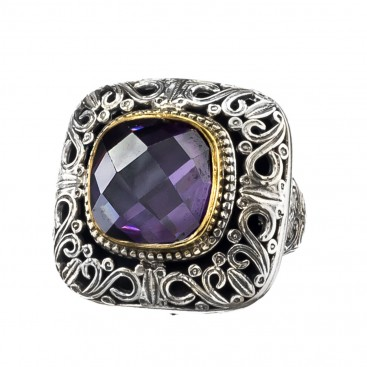 Gerochristo P2637N ~ Sterling Silver Medieval-Byzantine Cocktail Ring