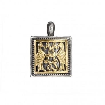 Gerochristo P3197N ~ Sterling Silver Medieval-Byzantine Pendant