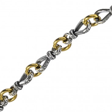 Gerochristo P4068N ~ Sterling Silver Medieval Byzantine Chain Necklace