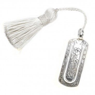 Gerochristo 9012 ~ Sterling Silver Bookmark with Tassel